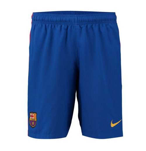 2016-2017 Barcelona Home Nike Football Shorts (Blue)