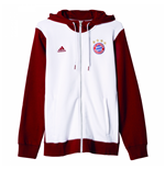 2016-2017 Bayern Munich Adidas 3S Hooded Zip (White)