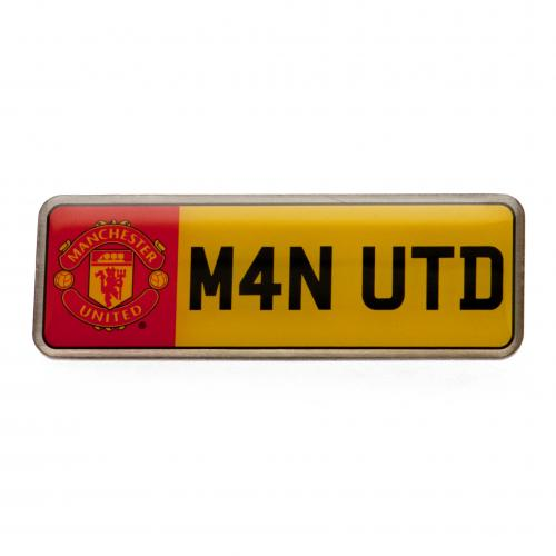 Manchester United F.C. Number Plate Badge