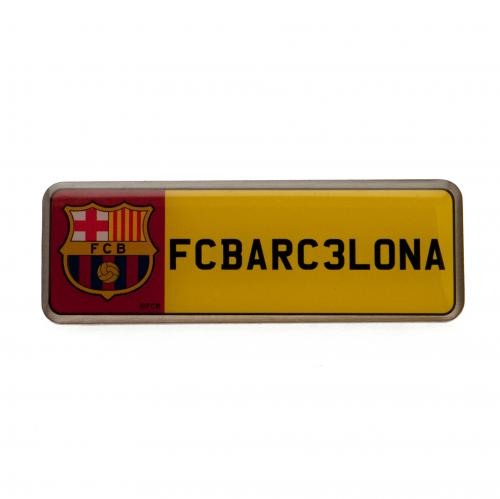 F.C. Barcelona Number Plate Badge