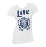 MILLER Lite Women's White Tee Shirt