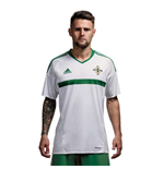 2016-2017 Northern Ireland Away Adidas Football Shirt