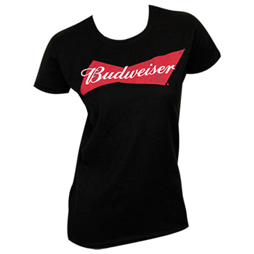 BUDWEISER Women's Black Tee Shirt
