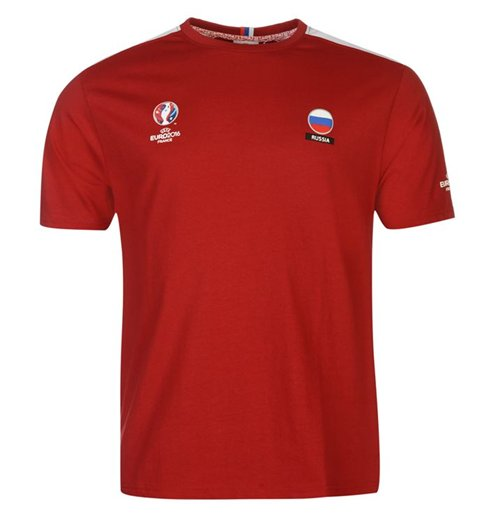 Russia UEFA Euro 2016 Core T-Shirt (Red) For Only £ 5.79