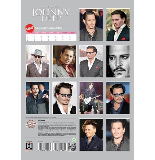Jhonny Depp 2017 Calendar for only £ 11.08 at ...