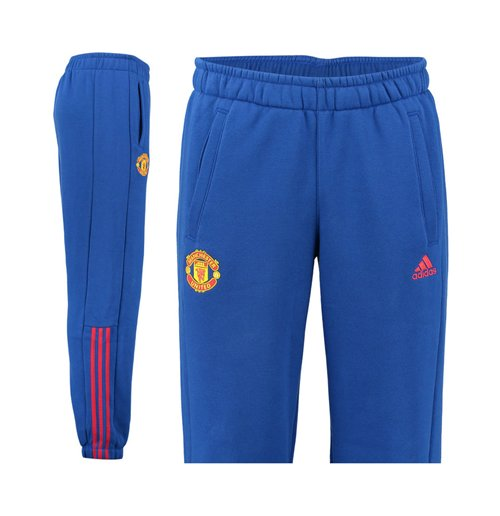 f30e367fb 2016-2017 Man Utd Adidas 3S Pants (Royal Blue)