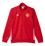 2016-2017 Man Utd Adidas 3S Track Top (Red)