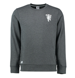 2016-2017 Man Utd Adidas BST Core Crew Sweatshirt (Dark Grey)