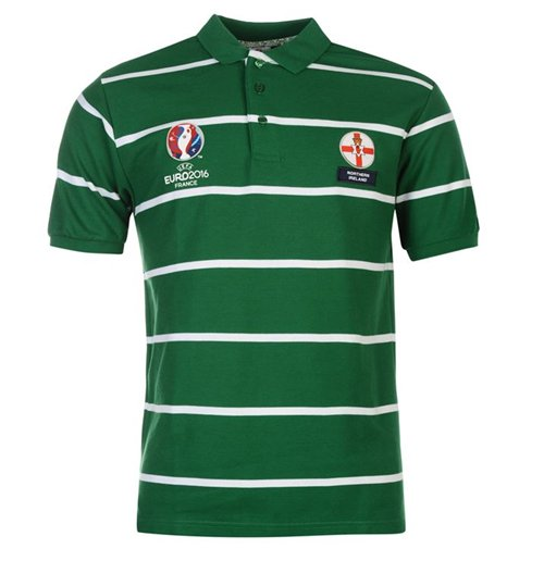 Northern Ireland Uefa Euro 2016 Polo Shirt Green For