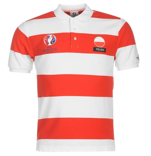 Reda Poland  City pictures : ... Football Poland Soccer Poland UEFA Euro 2016 Polo Shirt White Red