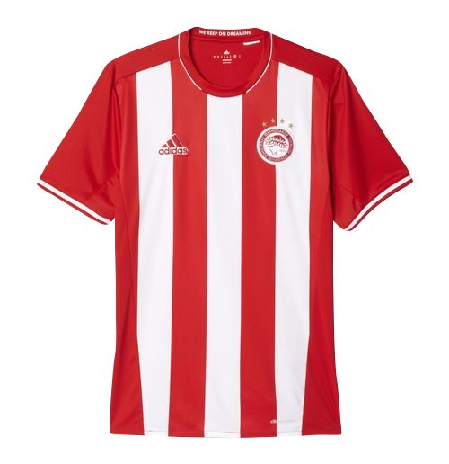 2016-2017 Olympiakos Adidas Home Football Shirt