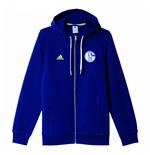 2016-2017 Schalke Adidas 3S Hooded Zip (Dark Blue)