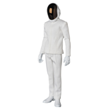 Daft Punk RAH Action Figure 1/6 Guy-Manuel de Homem-Christo White Suit Ver. 30 cm