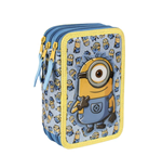 Minions (CE) pencil case triple filled (2)