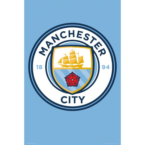 Manchester City F.C. Poster Crest 3
