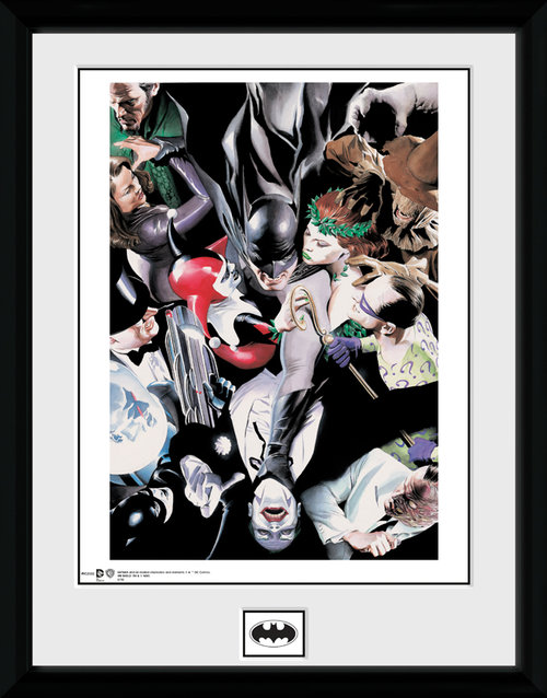 Batman Villians Framed Collector Print