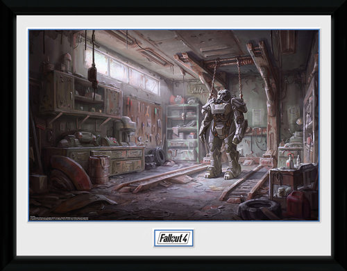 Fallout 4 Red Rocket Interior Framed Collector Print