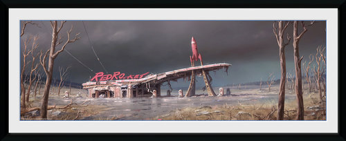 Fallout 4 Red Rocket Framed Collector Print