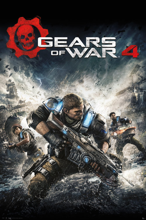 Gears Of War 4 Game Cover Maxi Poster