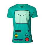 ADVENTURE TIME Beemo Games Console T-Shirt, Medium, Turquoise