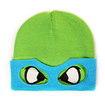 TEENAGE MUTANT NINJA TURTLES (TMNT) Leo Face & Mask Cuffless Beanie, One Size, Green/Blue
