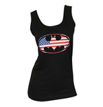 BATMAN American Flag Logo Women's Tank Top