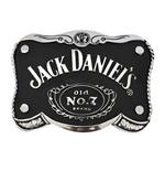 JACK DANIELS Black Shaped Belt Buckle