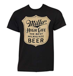 MILLER High Life Black Best Milwaukee Beer Tee Shirt