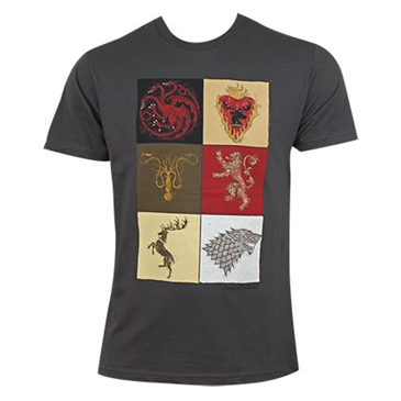 Game of thrones grey men 39 s house squares tee shirt for for Game t shirts uk