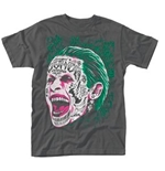 Suicide Squad T-shirt Joker Tattooed Face