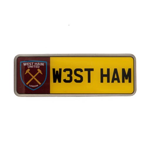 West Ham United F.C. Number Plate Badge