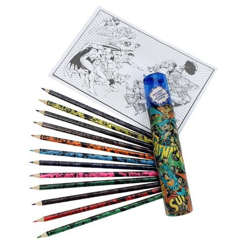 DC Comics Colouring Pencil Tube