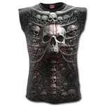 Death Ribs - Allover Sleeveless T-Shirt Black