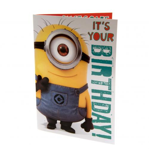 Despicable Me Minion Birthday Sound Card