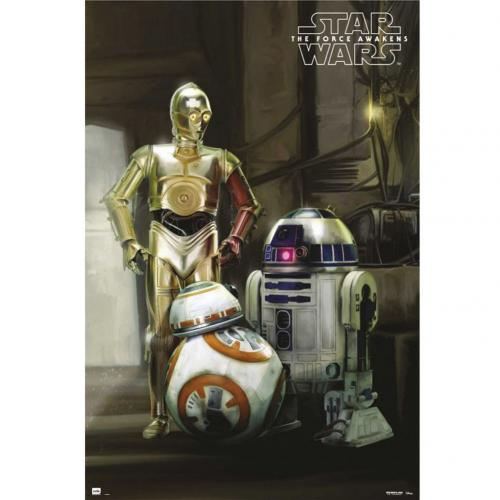 Star Wars The Force Awakens Poster Droids 203