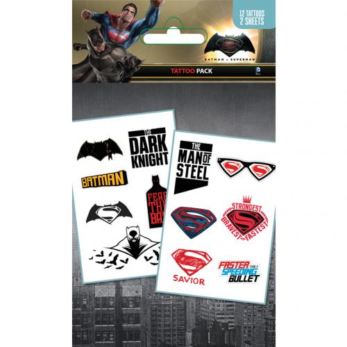 Batman Vs Superman Tattoo Pack