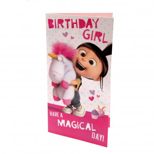 Official Despicable Me Agnes Birthday Card Girl Buy Online On Offer