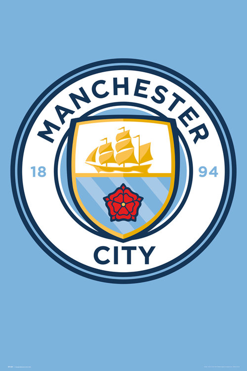 Manchester City Crest 15/16 Maxi Poster