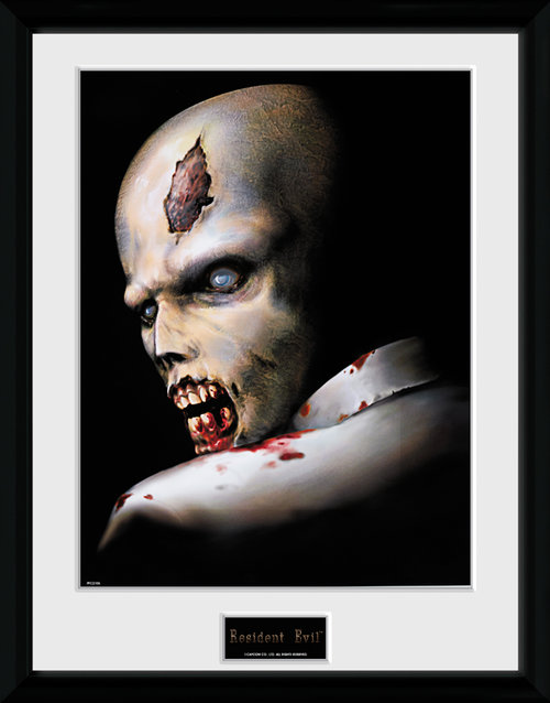 Resident Evil Zombie Framed Collector Print