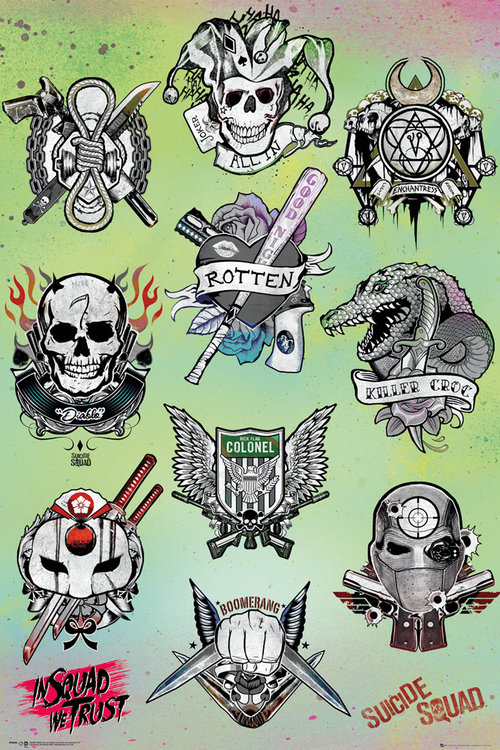 Suicide Squad Tattoo Parlour Maxi Poster For Only &163 395