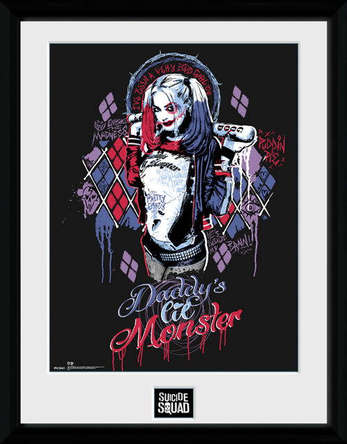 Suicide Squad Harley Quinn Monster Framed Collector Print