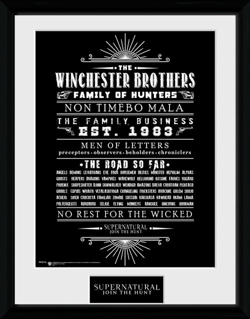 Supernatural Family Business Framed Collector Print