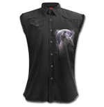 Wolf Soul - Sleeveless Worker Shirt Black