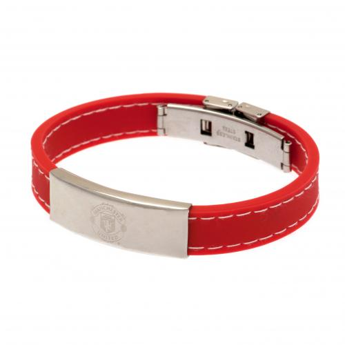 Manchester United F.C. Stitched Silicone Bracelet RD
