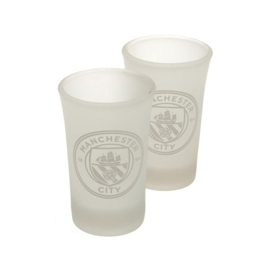 Manchester City 2pk Shot Glass Set FR