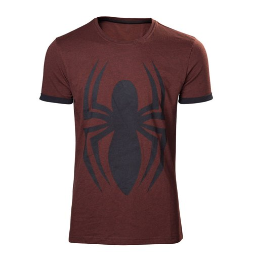 Marvel comics adult male spider man logo t shirt medium for Adult medium t shirt