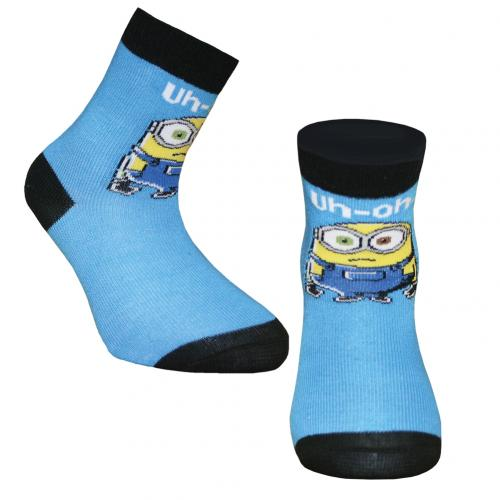 Minions Boys Socks 1 Pack Junior 12.5-3.5 BL