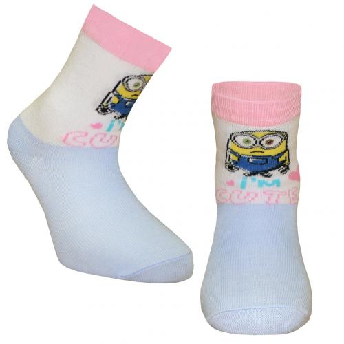 Minions Girls Socks 1 Pack Junior 12.5-3.5 SK
