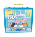PEPPA PIG Art Tin Case with 60pc Creative Accessories Kit, Blue