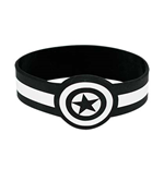 CAPTAIN AMERICA White And Black Rubber Bracelet